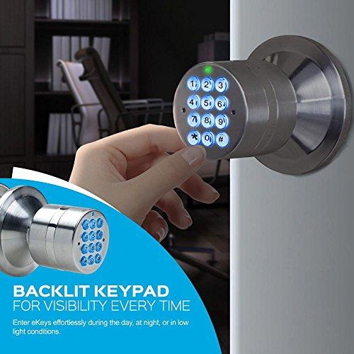 TurboLock TL-99 Bluetooth Smart Lock for Keyless Entry & Live Monitoring – Send & Delete eKeys w/App on Demand (Bronze) by TURBOLOCK (Image #4)