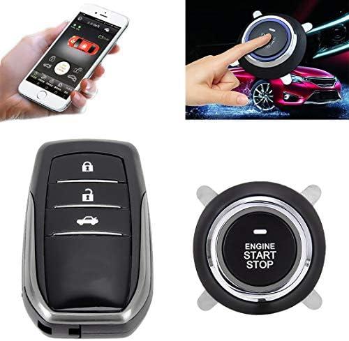車のボタンのプッシュスイッチ スマートキーレス車は、車のエンジンスタートストップスイッチの車のプッシュスタートスイッチを切り替えトヨタのための適合、リンク付き携帯電話