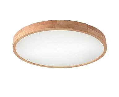 Wohnzimmerlampe Dimmbar Mit Fernbedienung Runde Deckenleuchte Holz Led Pentagon Eiche Deckenlampe Terrasse Diele Decken Lampe Protokolle