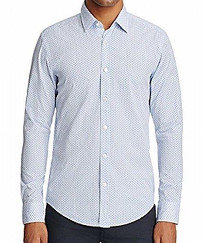 547b27d8544 ... Hugo Boss Boss Mens Fancy Slim Fit Dress Shirt Blue XL ...