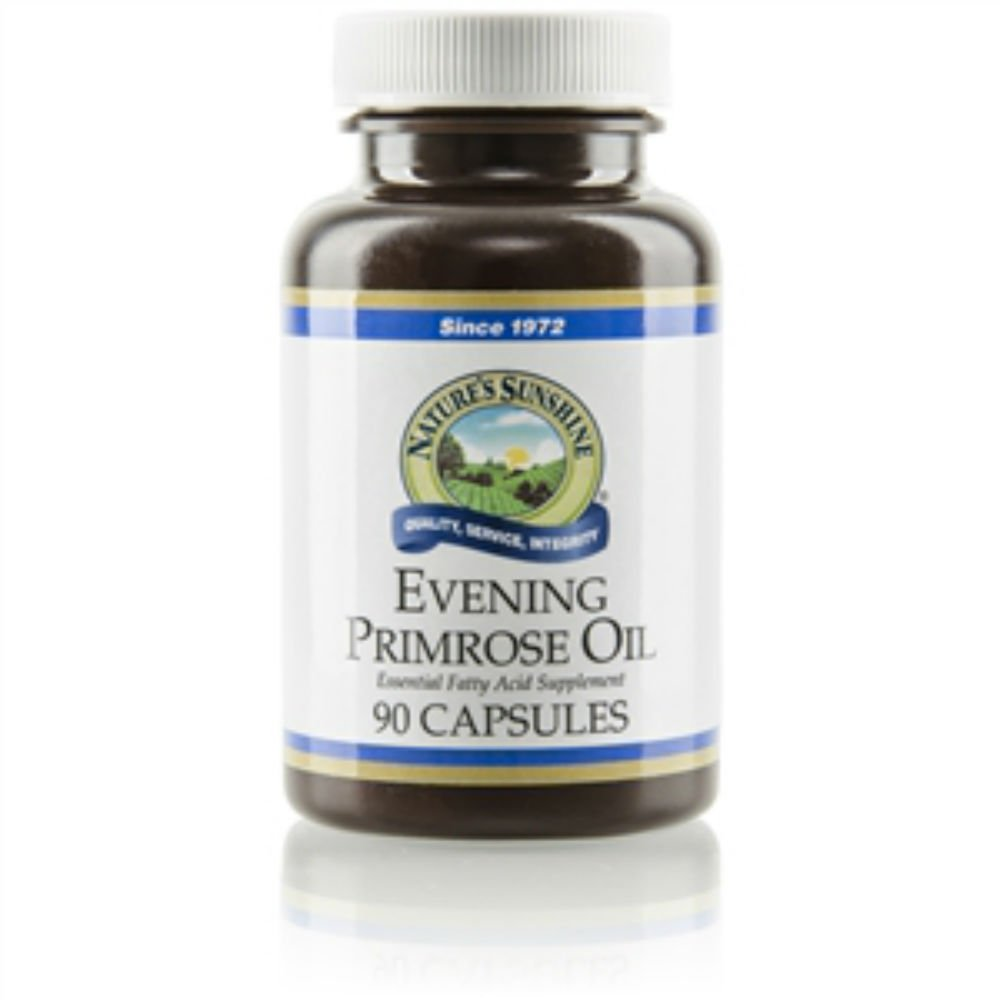 EVENING PRIMROSE OIL SOFTGEL Capsules (90 SG), Essential Fatty Acid Supplement, ''FAST SHIPPING'' 6 PACK SAVING! by Nature's Sunshine (Image #1)