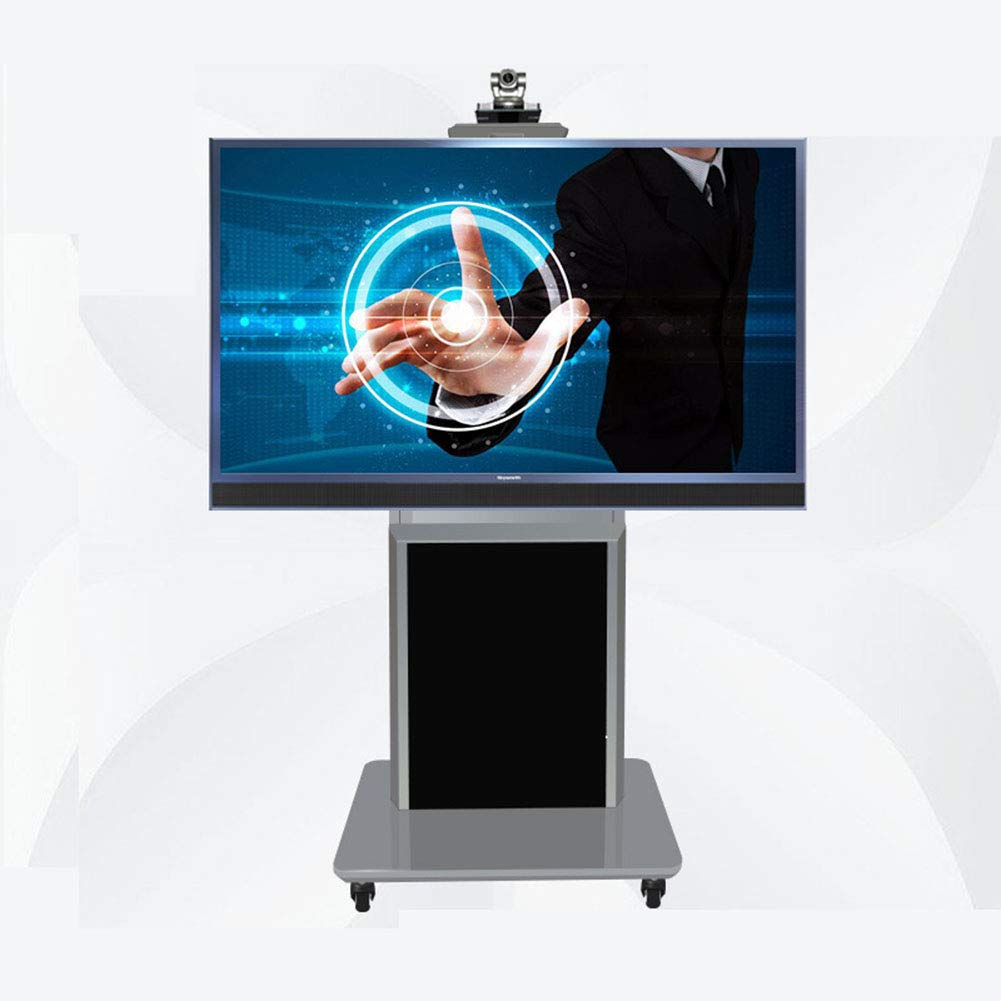 ユニバーサルテレビカート、32-65 インチ LED 液晶プラズマテレビフラットパネルディスプレイホイール360º回転の高さのスタンドルーム教室会議室ビデオ通話を調整します。