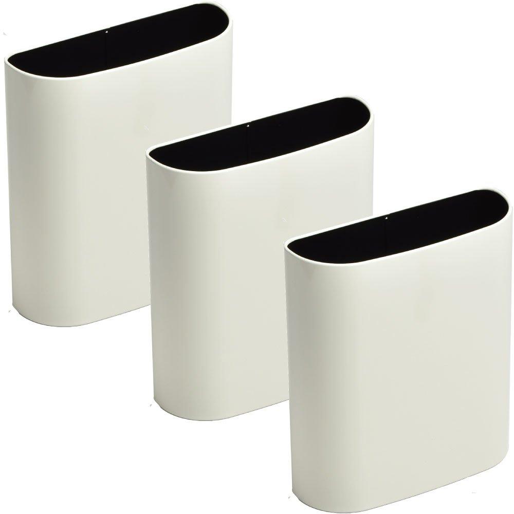 ぶんぶく マグネットバケット 全9色の中から選べる3個セット ゴミ箱 ごみ箱 ダストボックス おしゃれ 日本製 (アイボリー3個) B075K4HV3J アイボリー3個 アイボリー3個