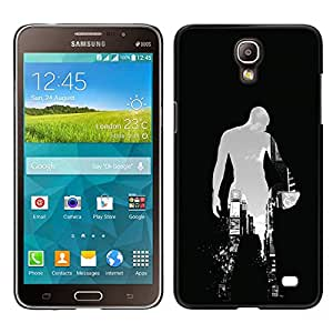 CASEMAX Slim Hard Case Cover Armor Shell FOR Samsung Galaxy Mega 2- BASKETBALL CITY SILHOUETTE