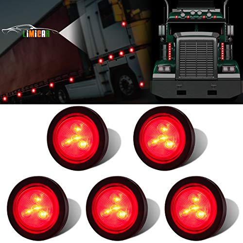 LIMICAR 5PCS Red Side Marker LED Lights 2