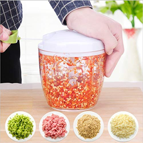 JIXIAO Accessory Multi-function Hand Pull Manual Food Chopper Cutter Twist Shredder Meat Grinder Mixer, Random Color Delivery JIXIAO
