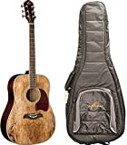 Oscar Schmidt OG2SM Acoustic Guitar - Spalted Maple - FREE Gig Bag