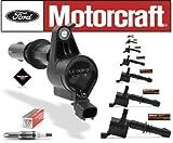 Set of 8 Motorcraft Ignition Coils DG-511 + 8 Motorcraft Spark Plugs SP-515 PZH14F