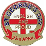 St Georges Day Proud to be English Pin Badge by St Georges