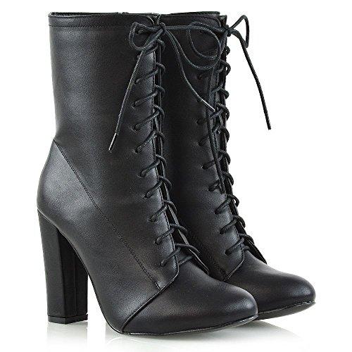 GLAM®les hommes de bottes pour hommes et des bottines lacées en cuir pour dames haut Eegfxo