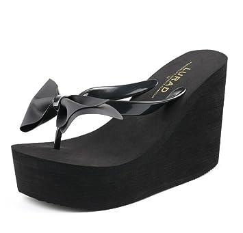 0f124c54657c5 Amazon.com | SHANGXIAN Summer Flip Flops Wedge Sandal Women's High ...