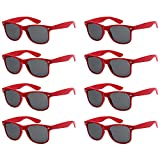 8 Pack Neon Colours Party Sunglasses Set for Kids Women Mens
