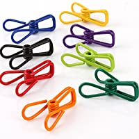 Yueton Pack of 30 Multi-purpose Clothesline Utility Clips, Steel Wire Clips by Blovess from yueton