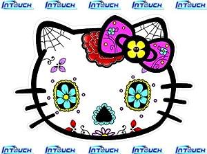 Amazon.com: Hello Kitty Sugar Skull Sticker Decal: Automotive