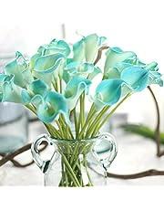 Molyveva 6 PCS/Bunch Artificial Bouquet Touch Calla Lily Fake Flower Wedding Home Decor
