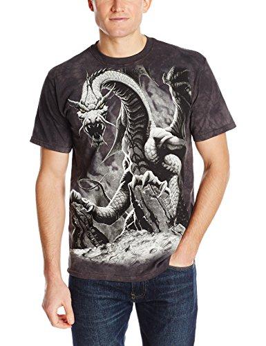 Black Dragon T-Shirt 100% Cotton Short Sleeve Shirt Pre-Shrunk, Black (Adult XL)