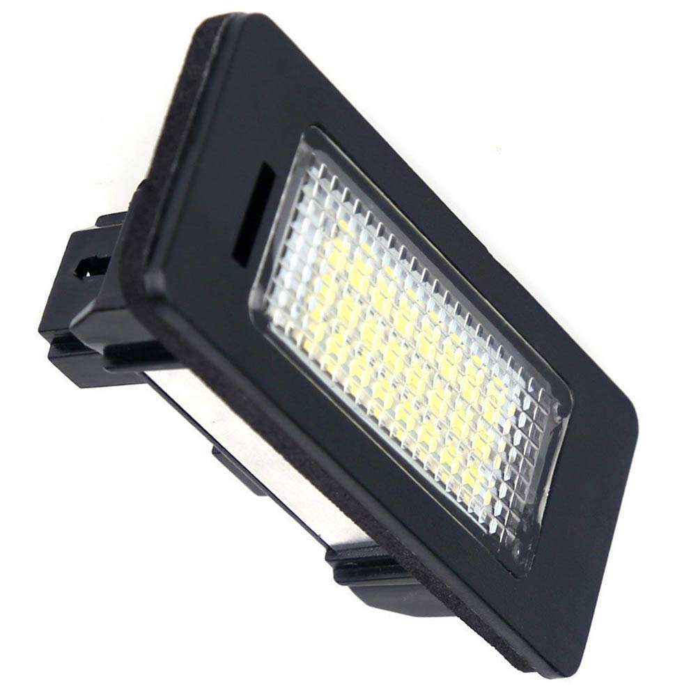 LED Car License Plate Light Assembly 12V 24 Led lamp bulb for BMW 1 3 5 X Series Error Free Direct Replacement X5 X6 M3 E39 E60 E70 E71 E82 E90 E92 White Rear Number Plate Lamp 2 PCS