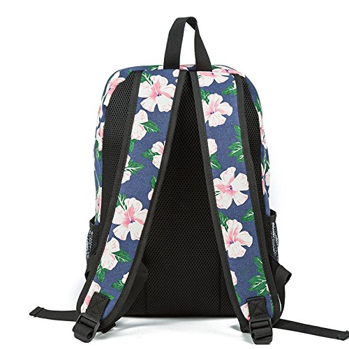 Stampa Donne Viaggio Tela Per Bookbags Femminili 803a Floreale Di Sacchetto Ragazze Scuola Unica Le xwq688X