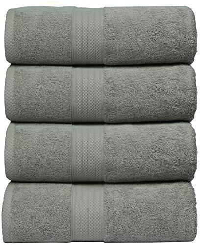 MAHI HOME Luxurious & Ultra Soft 4 Pack Bath Towel Set, 100%