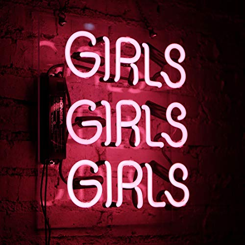 Neon Signs Girls Beer Bar Neon Light Pink Handmade Glass