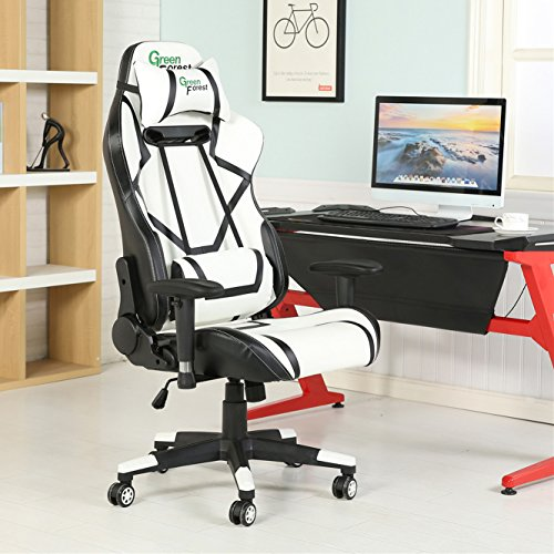 Greenforest Gaming Chair Ergonomic Racing Style Large Size