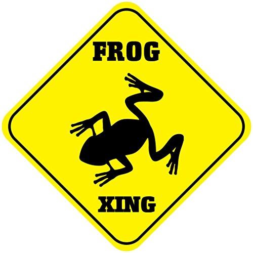 Frog Crossing Funny Metal Aluminum Novelty Sign