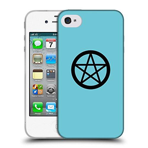 GoGoMobile Coque de Protection TPU Silicone Case pour // Q08390627 Religion 3 Cyan // Apple iPhone 4 4S 4G