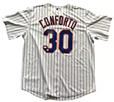 Michael Conforto Signed New York Mets Authentic Cool Base Pinstripe Jersey JSA