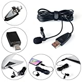 USB Microphone, ZAFFIRO Lavalier Mic Lapel Clip on Recording Condenser Microphone for PC Computer, Laptop, Mac & Macbook, Smartphone, Android
