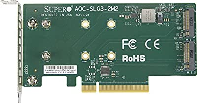 Supermicro AOC-SLG3-2M2 PCIe Add-On Card for up to Two NVMe SSDs by Supermicro