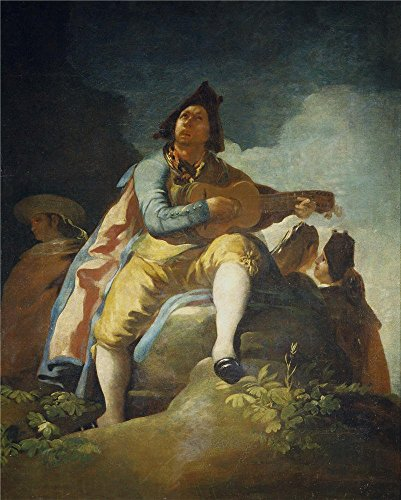 'Goya Y Lucientes Francisco De Majo With Guitar 1779 ' Oil Painting, 8 X 10 Inch / 20 X 25 Cm ,printed On Perfect Effect Canvas ,this High Resolution Art Decorative Canvas Prints Is Perfectly Suitalbe For Wall Art Decoration And Home Decoration And Gifts - Wall Trio Lighting