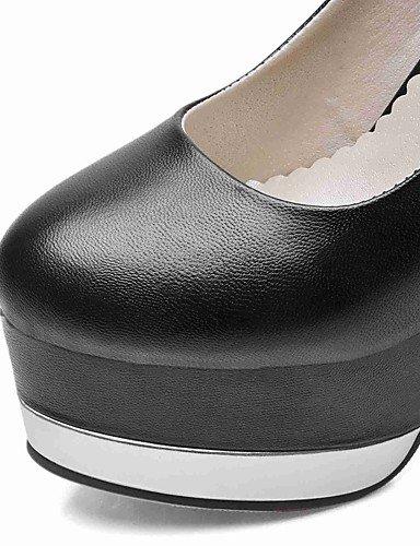Beige tacón Y Mujer 5 Black negro 7 5 Punta oficina tacones Eu37 Redonda us6 Cn37 5 Ggx tacones Casual Uk4 pu Stiletto Trabajo Rojo 6xAw88