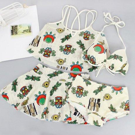 YUPE Hot spring Badeanzug Bikini mode Rock Bademode Mädchen Strand