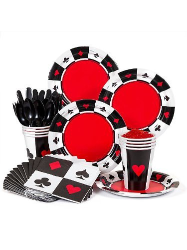 Casino Party Supplies Standard Kit -Serves 8 -