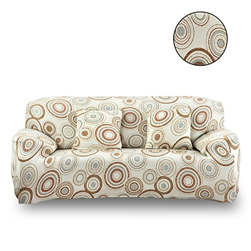 - HOTNIU Stretch Sofa Slipcover Floral Printed Loveseat Couch Covers Polyester Spandex 3 Seat Couch Slipcovers Furniture Protector Cover (Sofa for 69