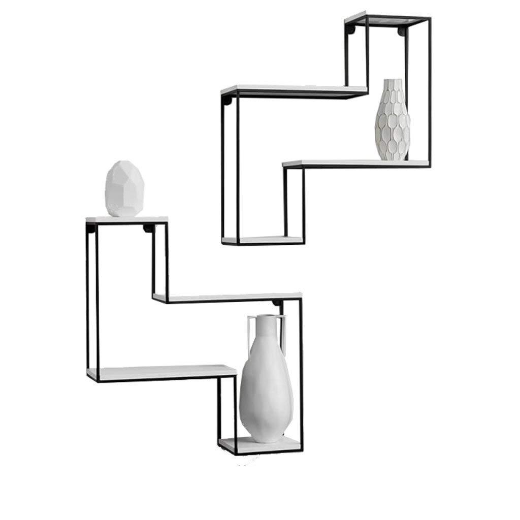 FuweiEncore Creativo Estante de Hierro de Madera Maciza Colgante de Pared estantería tablilla de Pared estantes estantes Accesorios (Color : -, tamaño : -)