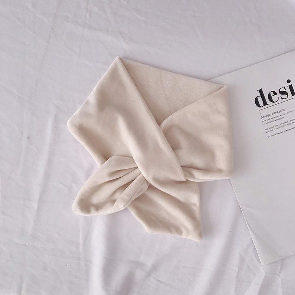 Voberry Velluto Sciarpa Donna Eleganti Morbido Cravatta Sciarpa Autunno Inverno Sciarpa Calda alla Moda Shawl Scarf Donne Ragazze