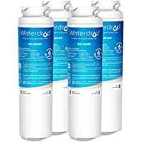 Waterdrop MSWF Replacement Refrigerator Water Filter, Compatible with GE MSWF, 101820A, 101821B, 101821-B, Standard , 4 Pack