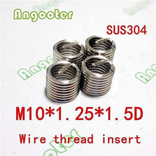 Ochoos 50pcs M101.251.5D Wire Thread Insert Bushing Screws Sleeve Stainless Steel Repair Insert kit Fastener Connection Tools