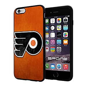 Philadelphia Flyers 3 WADE4661 NHL iPhone 6+ 5.5 inch Case Protection Black Rubber Cover Protector
