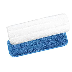 New Microfiber Flip Mop Refill Washable Cleaning Pad House Moptop Replacement (BLUE)