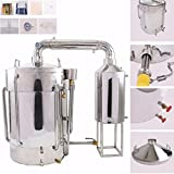 60L-100L Litres New Stainless Household Moonshine Still Water Distiller Alcohol Brandy Grape Wine Vodka White Spirit Essential Oil Pure Dew Brew Kit With Water Pump Thermometer