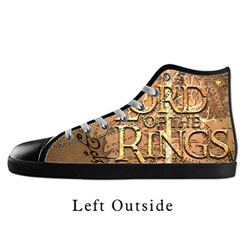 Custom Women Lord of the Rings Canvas Shoes High Top Sneakers US10 (Lord Of The Rings Shoes)
