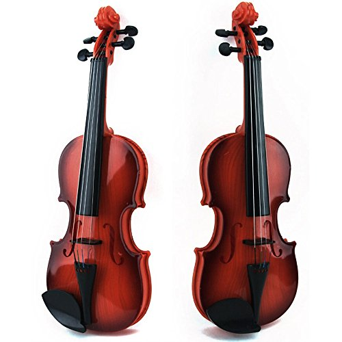 Violin Toy Musical Instruments Toys Lovely Plastic Violin Montessori Educational Learning Toys Promote Fine Motor Skills Enhance Hand to Eye Coordination for 5 Age and up Kids Children