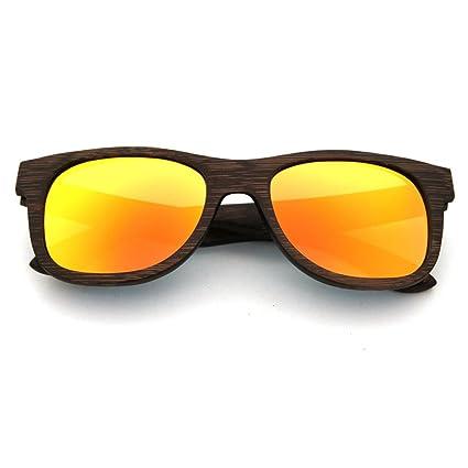 Aihifly Gafas de Sol polarizadas Gafas de Sol de Madera Hechas a Mano de la Vendimia