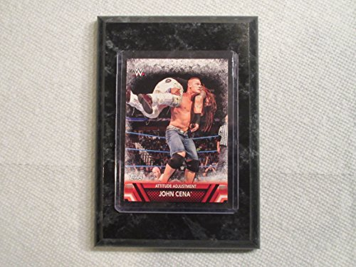 John Cena Wrestlemania Topps WWE 2017 Attitude Adjustment card mounted on a 4