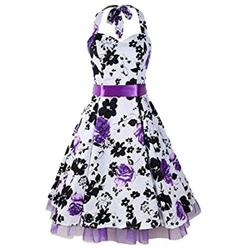 50s style bridesmaid dresses purple - 8