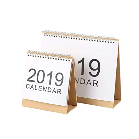 Calendario 2019 con Tapa para Escritorio, 2018 - 2019 Mes a la ...