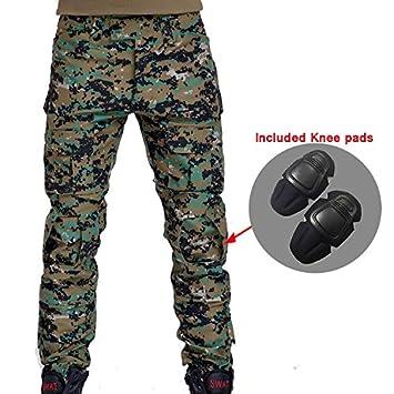 Tarnung Taktische Militärische Kleidung Paintball Frauenarmee Cargo-hosen Kampfhose Multicam Militar Hosen Mit Knieschützer Anzüge Sets/garnituren Jagd-tarnanzug