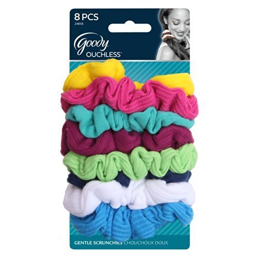 Goody Ouchless Scrunchie Jersey (Variety), [8 Count]) (Colors May Vary) ([2-Pack) by Goody Ouchless